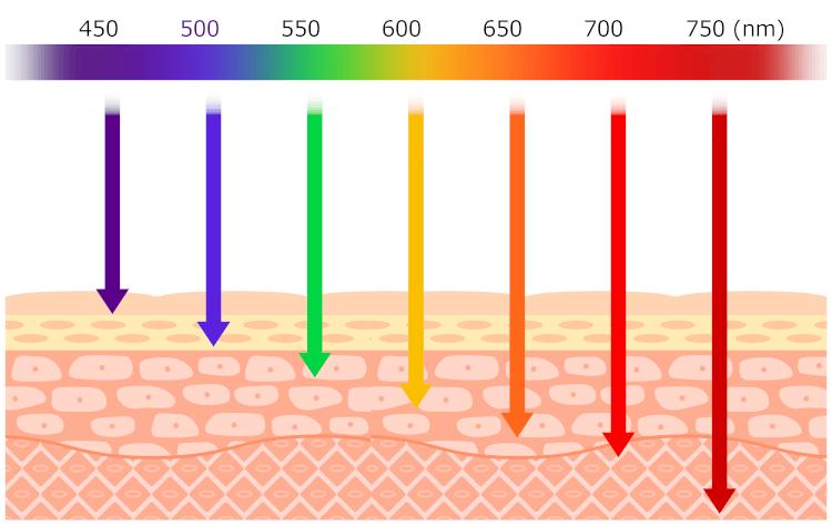 光LEDの色と波長